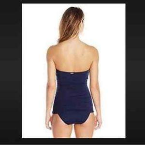 988dc28e697 Ivanka Trump Swim - NWT Ivanka Trump navy blue ruched 1 piece swimsuit